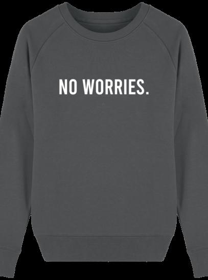 Sweat Femme éthique No Worries - Anthracite - Face