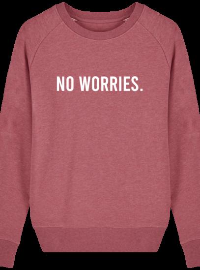 Sweat Femme éthique No Worries - Heather Cranberry - Face