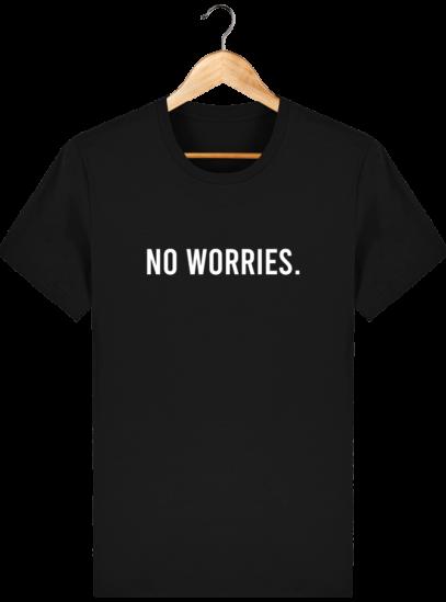 T-Shirt Homme éthique No Worries. - Black - Face