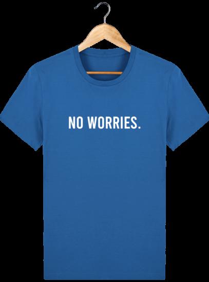 T-Shirt Homme éthique No Worries. - Royal Blue - Face