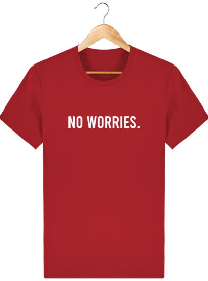 T-Shirt Homme éthique No Worries. - Red - Face