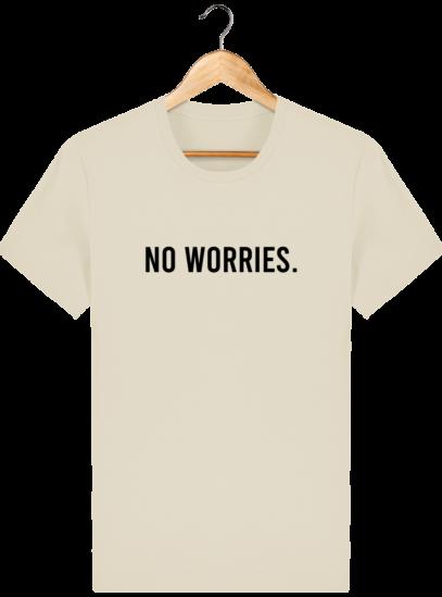 T-Shirt Homme éthique No Worries. - Desert Dust - Face