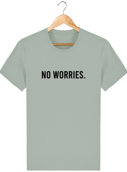 T-Shirt Homme éthique No Worries. - Opal - Face