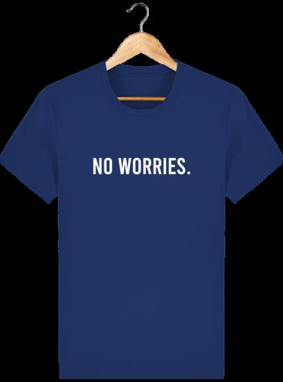 T-Shirt Homme éthique No Worries. - Majorelle Blue - Face