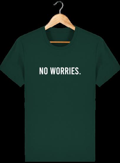 T-Shirt Homme éthique No Worries. - Glazed Green - Face