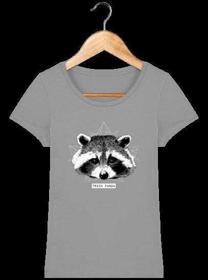 T-Shirt Femme éthique Raton Laveur - Opal - Face