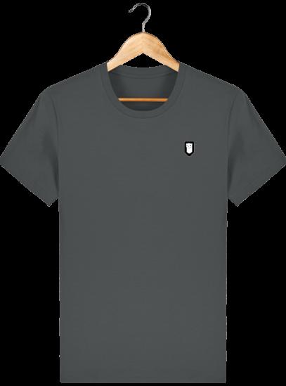 T-Shirt Homme Breton Broderie Breizh Traveller - Anthracite - Face
