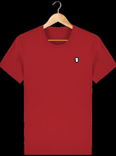 T-Shirt Homme Breton Broderie Breizh Traveller - Red - Face