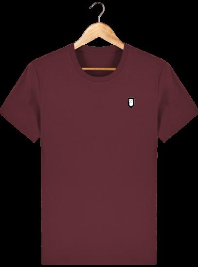 T-Shirt Homme Breton Broderie Breizh Traveller - Burgundy - Face