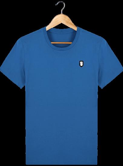T-Shirt Homme Breton Broderie Breizh Traveller - Royal Blue - Face