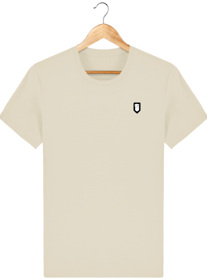 T-Shirt Homme Breton Broderie Breizh Traveller - Desert Dust - Face