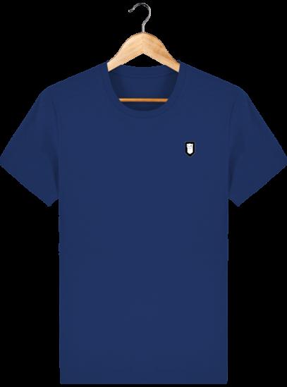 T-Shirt Homme Breton Broderie Breizh Traveller - Majorelle Blue - Face
