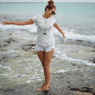 T shirt femme bretonne phare BZH